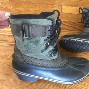 Sorel winter fancy lace-up cold weather boots